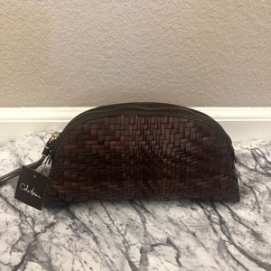 NWT Cole Haan Genevieve Weaved Dome Wristlet Bag